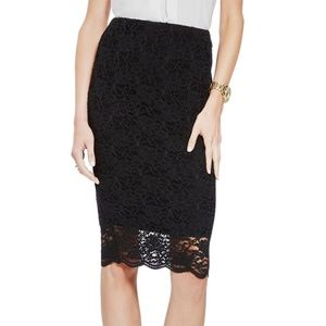 Vince Camuto Stretch Lace Pencil Skirt XS S & M